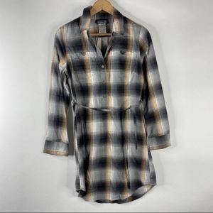 Patagonia Shirt Dress Plaid Featherstone Flannel
